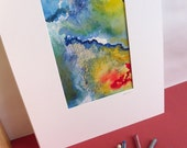 EARTHQUAKE RELIEF - Rain - Pastel Drawing, Abstract, ORIGINAL ART WORK