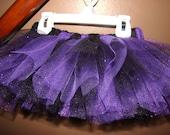 RESERVED for lisaorlandon - purple/black glitter tutu - 3-6 months