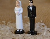 Miniature Bride and Groom Figurines