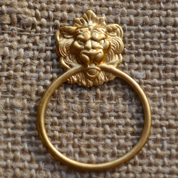 Set of Four Metal Lion with Ring Embellishment/Charm