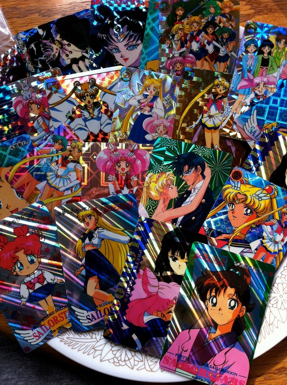 Vintage Sailor Moon Trading/Collectable Cards/Stickers Lot of 20