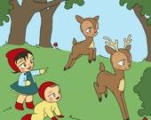 Babies and deer