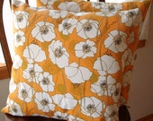 Pillow Cover - FREE SHIPPING - Poppy Fields -  1 - 18 inch square - Envelope style closure