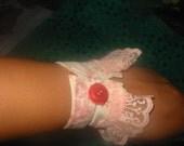 Pretty in pink wrist cuff