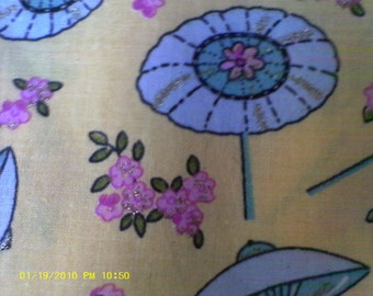 Oriental Umbrellas and Cherry Blossom Fabric