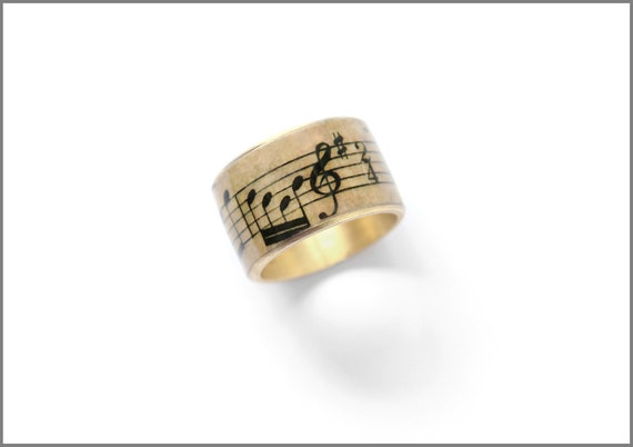 Sheet Music Jewelry, Music Notes Ring, Music Jewelry, Music Gift, Antique Sheet Music, Music Lover, Ring