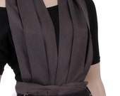 SALE quirky jumpsuit in linen in brown