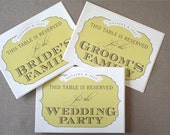 FAST SHIPPING - Set of 3 Reserved Wedding Signage - CUSTOM colors