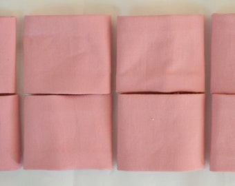SALE 8 Triple Layer Cotton DUSTY PINK Napkin Rings - See my shop for lots of other lovely colours available