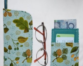 Closeout SALE Lakeside FOREST 3 pocket Business Card Case wallet card purse PLUS Belt Hang Glasses Cell Phone Mobile Sunglasses Case