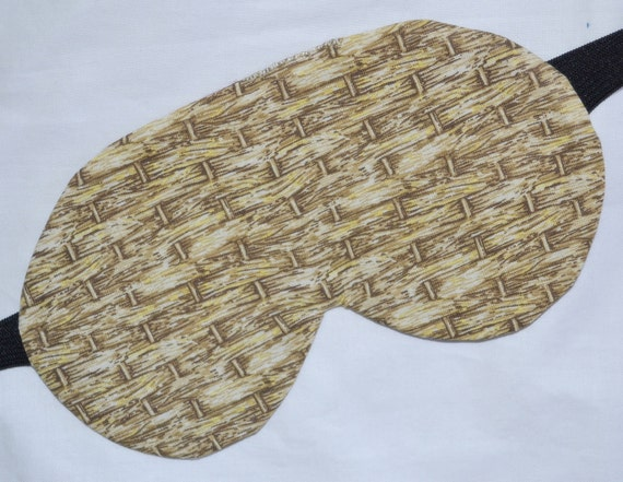 Rustic WOVEN BASKETS Five Layer LUXURY Cotton Sleep Eye Mask - See my shop for lots of unisex designs available