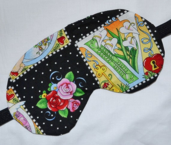Key To My Heart LILIES & ROSES Triple Layer Cotton Sleep Eye Mask