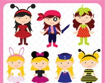 Costume Party - fancy dress theme, dress up party, theme costume, clipart, graphics, sale, baby clip art - Personal and Commercial Use