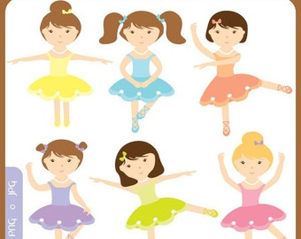 Baby Ballerinas Clip Art Instant Download - ballet, shoes, dancer, birthday tutu, cute, premade logo - Personal and Commercial Use Clipart