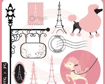 Poodle In Paris - fancy dogs, luxury, stylish, chic, pink, girly, parisian anthology, romantic, paris, love - Personal and Commercial Use