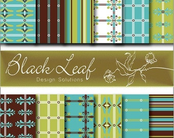Olive Patterns Digital Paper for Scrapbooking, Cards, Invites, Photographers, Crafts