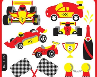 Race Cars - f1 racing, formula one racing, fast cars, dinky cars, racing car circuit, race track - Personal Commercial Use Clip Art