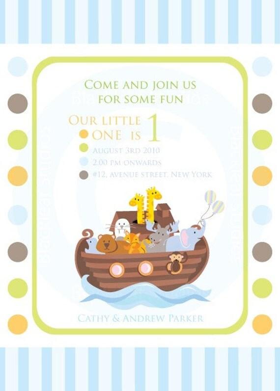Noahs Ark Invitation Diy Printable For Baby Shower Birth