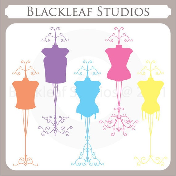 Corsets Silhouettes - bridal shower, lingerie shower, silhouettes, bridesmaid, wedding, dress forms, vintage- Personal and Commercial Use