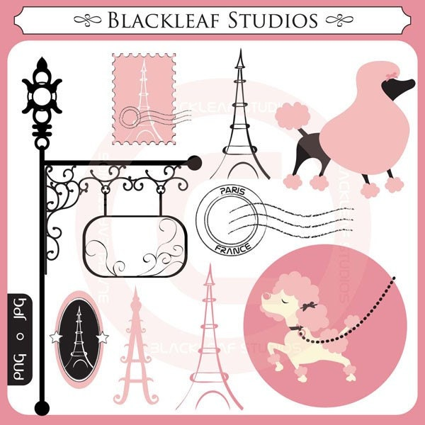 Poodle in paris fancy dogs luxury stylish chic pink - Magasin de scrapbooking paris ...