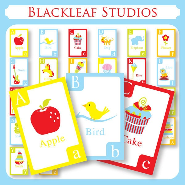 Alphabet Flash Cards DIY Printable For Toddlers Primary