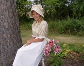 Girls Pioneer Prairie Colonial Dress Costume Yellow