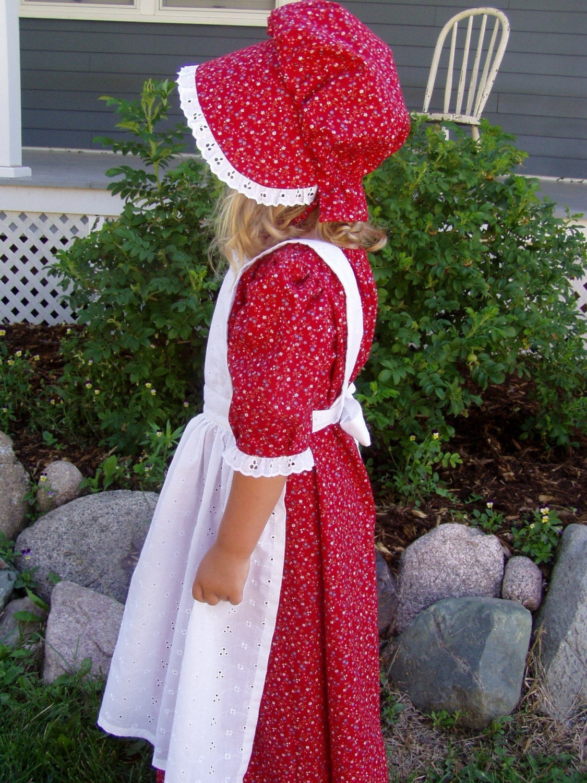 New Girls Pioneer Prairie Dress Costume Choose Size