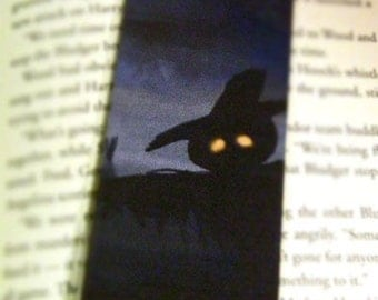 SALE Scarecrow Halloween Illustration -  Laminated Bookmark