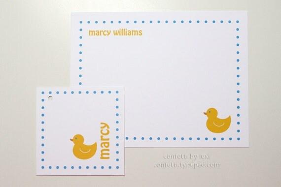 rubber ducky card set