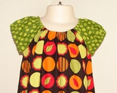 Falling Into Autumn, Peasant Dress, Michael Miller, Size 3t or 4t