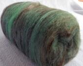 Thin Mints Spinning Batts Fiber Mint Green Chocolate Brown sparkle wool Art Batt Fibre