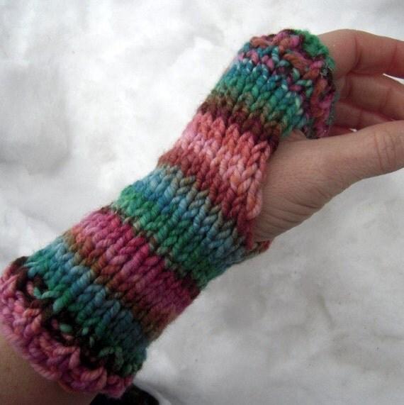 Knitting Items To Sell : Pdf handspun wrist warmers knitting pattern digital