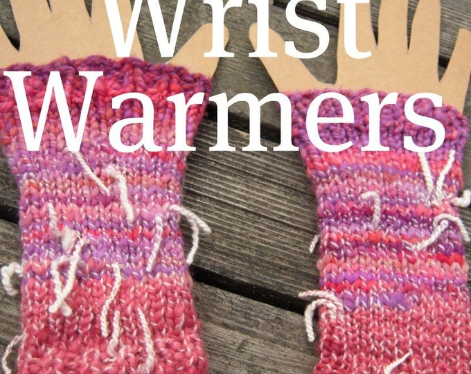 PDF handspun wrist warmers knitting pattern Digital Download SELL items knit from this