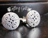 Small Authentic Celtic Knot Cufflinks