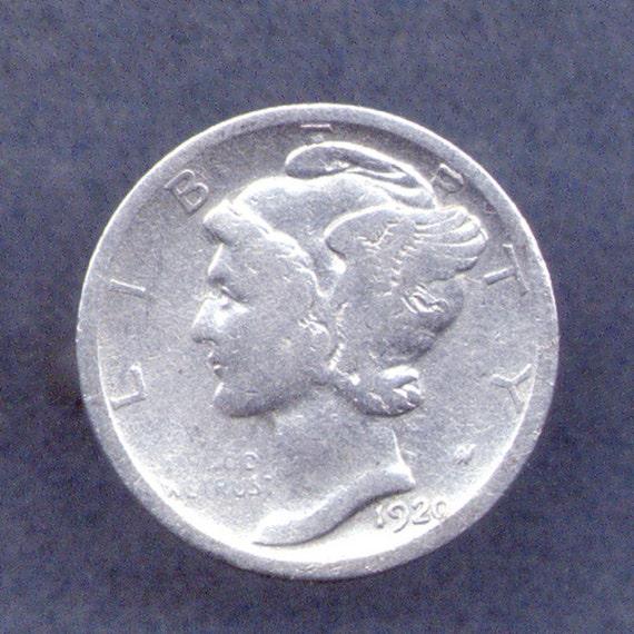 Silver Mercury Dime Coin Ring (E-488)