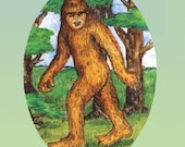 Bigfoot in the Woods ornament
