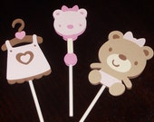 It's a Girl Cupcake Toppers - cupcake decorations, party decorations, party supplies