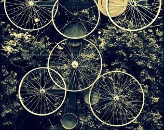 TIRE - LESS PURSUIT Original 24x36 Art Photograph by StaticMovement on Canvas, canvas wrap