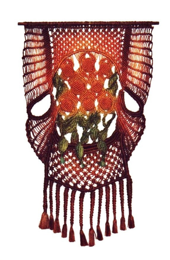 macrame patterns hanging basket macrame wall hanging basket of flowers handmade by 9832