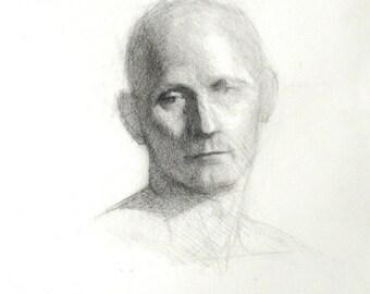 Head Study of David - original Drawing (FD 39)