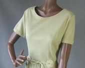 50s 60s Day Dress Vintage Mad Men Joan Office Diva Sheath Large to Extra Large