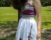 50% OFF SALE - Fuschia and Grey Rose Garden Dress