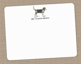 Personalized Beagle Flat Notecards