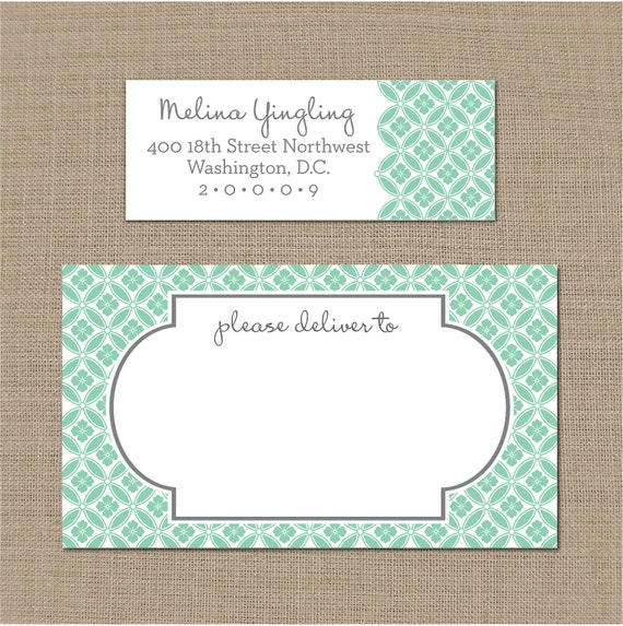 Personalized Floral Mailing and Return Address Labels (Pick your color)