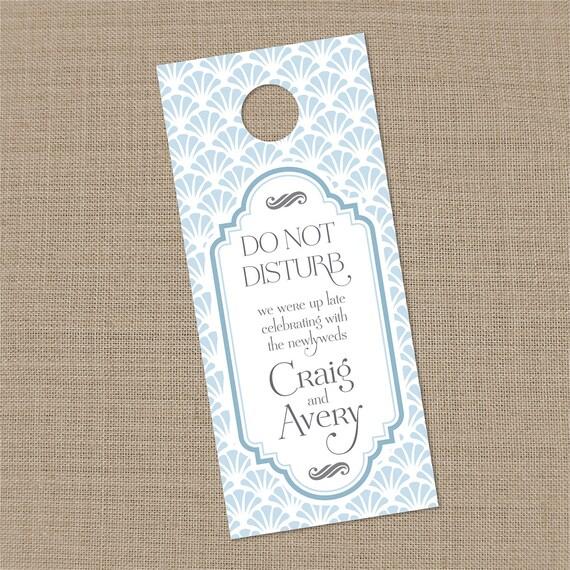 25 Custom Wedding Guest Door Hangers - Any color