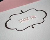 Framed Thank You  - Set of 10 Letterpress Notecards