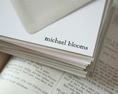 personalized letterpress stationery | michael