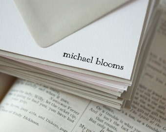 personalized letterpress stationery | michael
