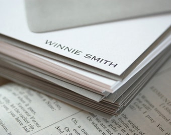 personalized letterpress stationery | winnie
