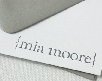 personalized letterpress stationery | mia